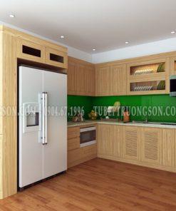 Tủ bếp gỗ sồi nga